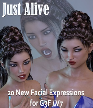 Just Alive Expressions for G3F/V7 3D Figure Essentials vanda51