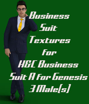 Textures for H&C Business Suit A for Genesis 3 Male(s) 3D Figure Assets RenderGuyNY