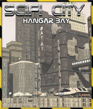 Scifi City Hangar Bay - Extended License 3D Models Gaming Extended Licenses 3-d-c