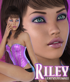 VS Riley for Genesis 3 Female 3D Figure Assets Sabby