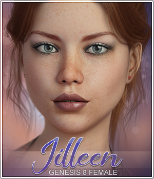 Jilleen for Genesis 8 & Genesis 3 3D Figure Assets 3DSublimeProductions