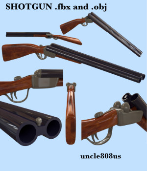 Shotgun fbx and obj 3D Models uncle808us