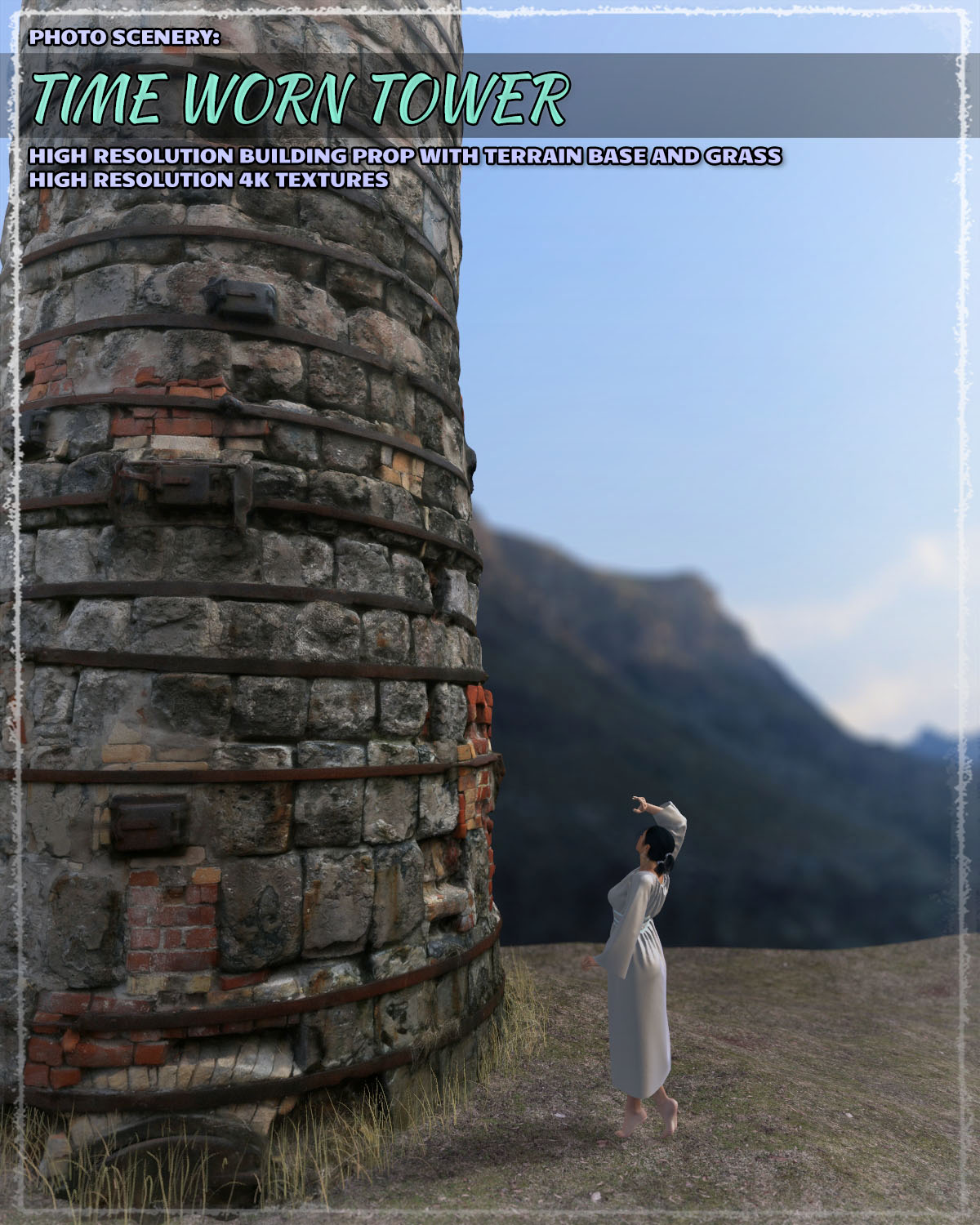 Photo Scenery: Timeworn Tower - Extended License