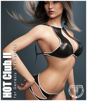 HOT Club II for Genesis 3 Female(s) 3D Figure Essentials outoftouch