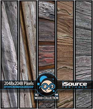 Wood Collection - Vol2 (PBR Textures) - Extended License 2D KobaAlexander