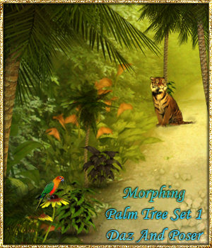 Morphing Palm Tree Set 1 For Daz Studio And Poser - Extended License 3D Models fictionalbookshelf