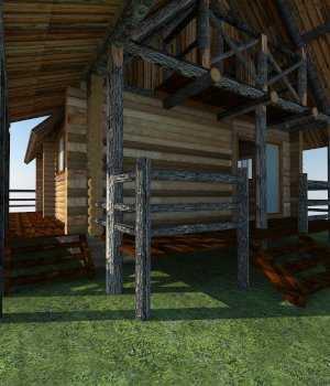 LogCabin 3D Models Extended Licenses 3D Game Models : OBJ : FBX holydragon78