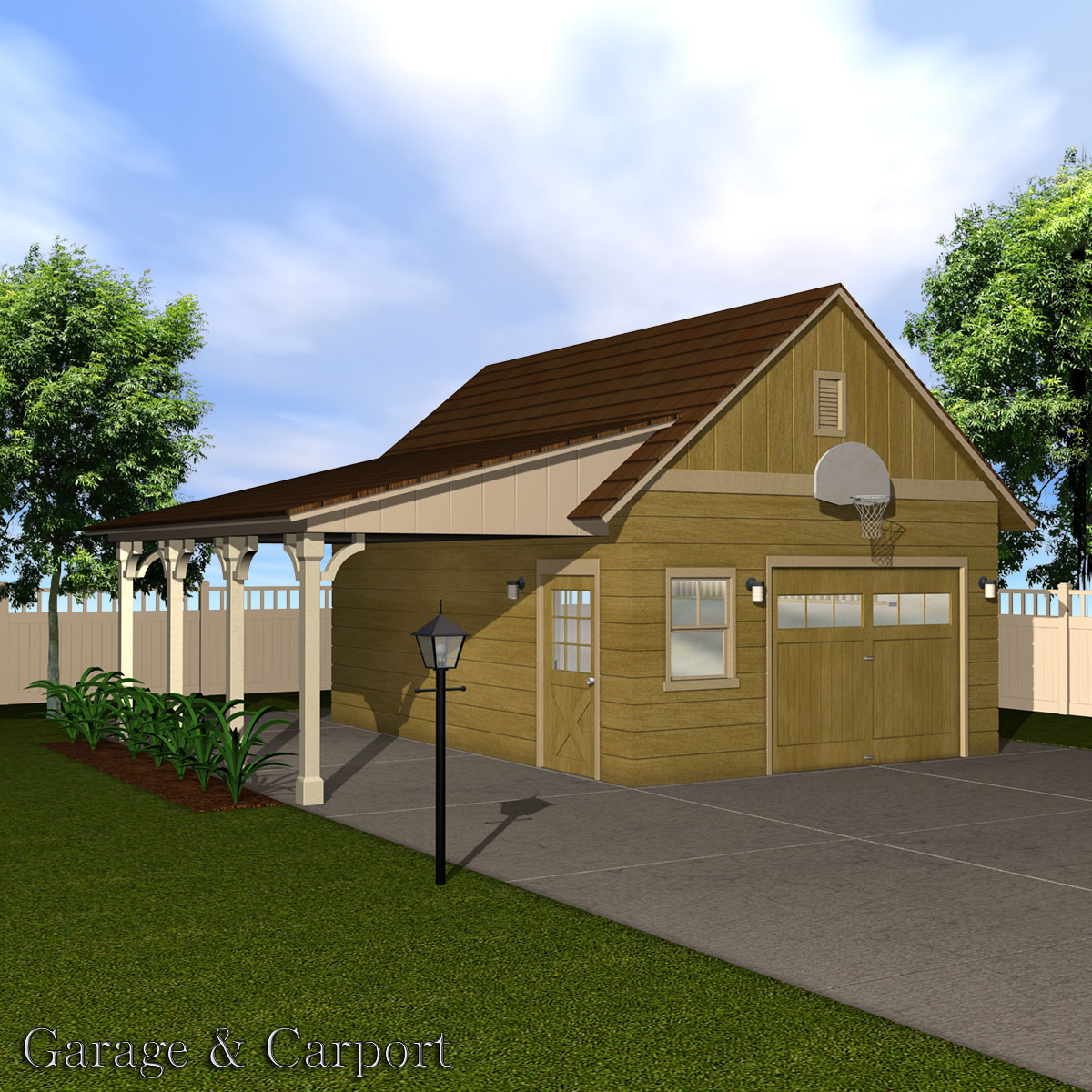 Garage carport set 3d models richabri for Carport ou garage