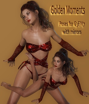 Golden Moments Poses for G3F / V7 3D Figure Essentials vanda51
