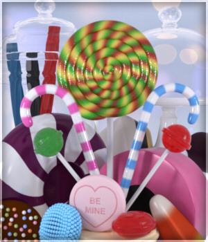 CandyLuscious Prop Set 3D Figure Assets 3D Models Lully