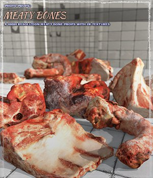 Photo Props: Meaty Bones - Extended License 3D Models Extended Licenses ShaaraMuse3D