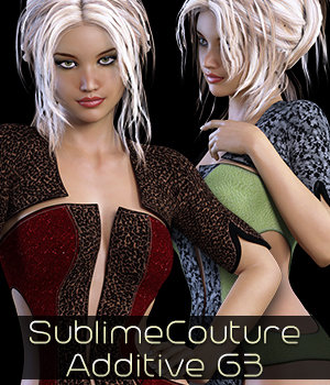 Sublime Couture for LF_AdditiveG3F 3D Figure Assets 3DSublimeProductions