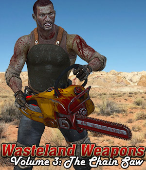 Wasteland Weapons 3: The ChainSaw 3D Models $3.99 Sale Items Week 2 Cybertenko