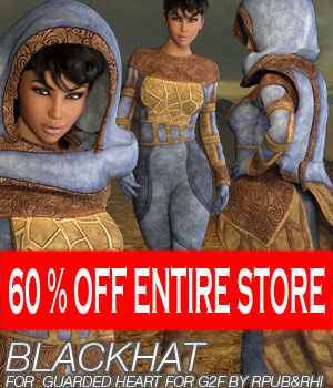 BLACKHAT - Guarded Heart Clothing for G2F 3D Figure Essentials Anagord