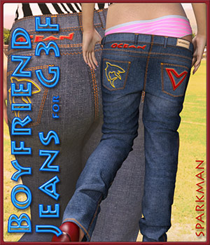 Boyfriend Jeans for Genesis 3 Female(s) 3D Figure Essentials sparkman
