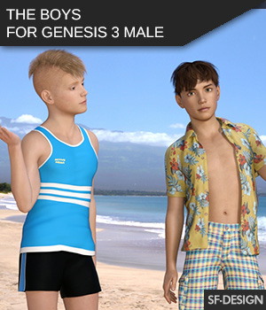 The Boys - Shapes for Genesis 3 Male 3D Figure Assets 2D Graphics SF-Design