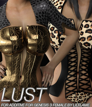 LUST - Additive for Genesis 3 Female(s) 3D Figure Essentials Anagord