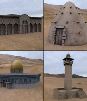 Middle East Buildings 2 (for Poser) 3D Models VanishingPoint