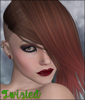 Twizted Roxx Hair 3D Figure Essentials TwiztedMetal
