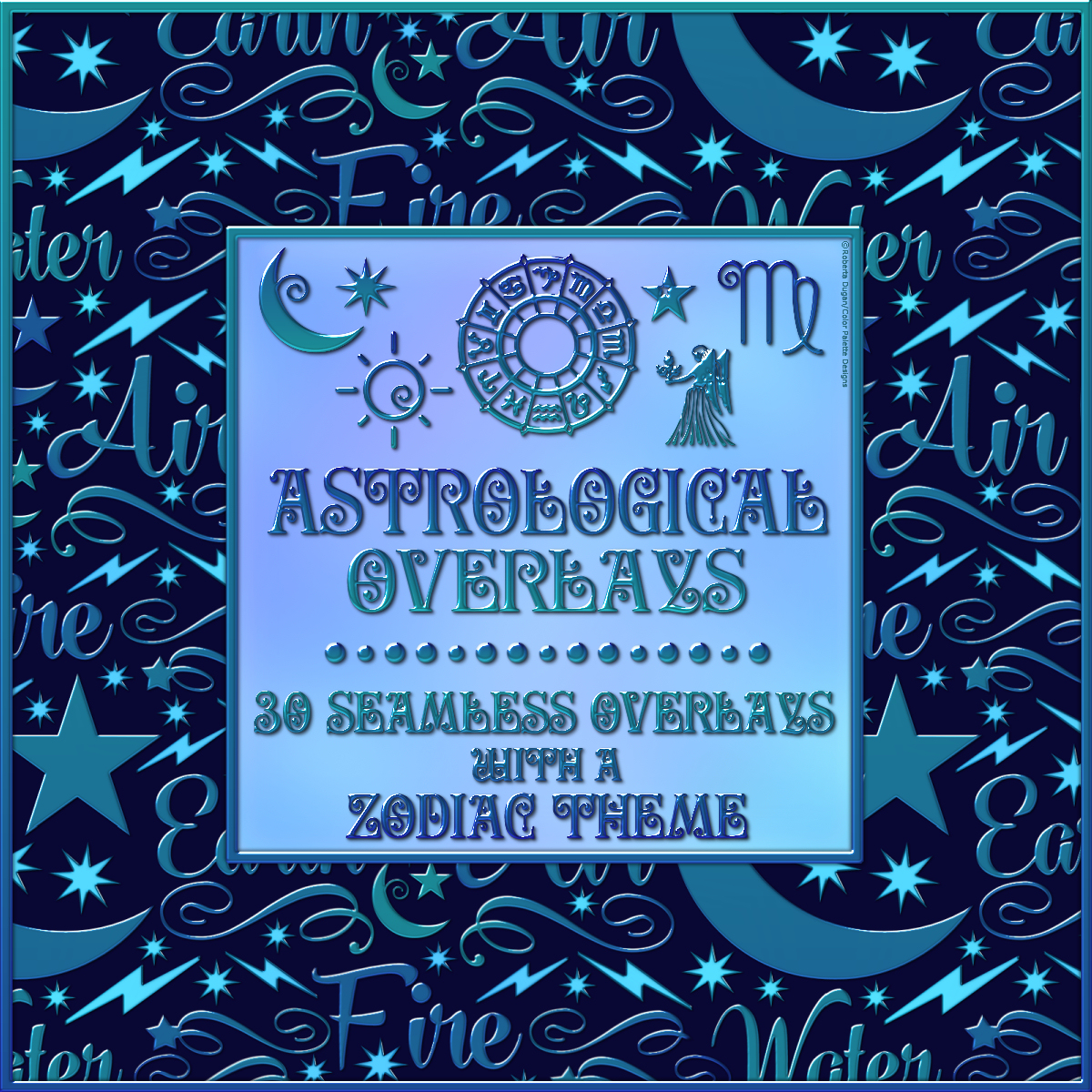 Design Resource: Astrological Seamless Overlays