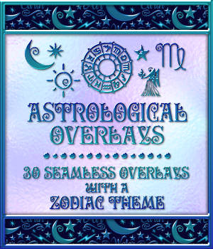 Design Resource: Astrological Seamless Overlays 2D Merchant Resources fractalartist01