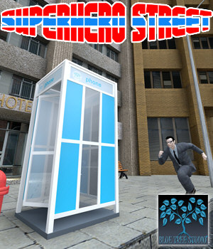 Superhero Street 3D Models BlueTreeStudio