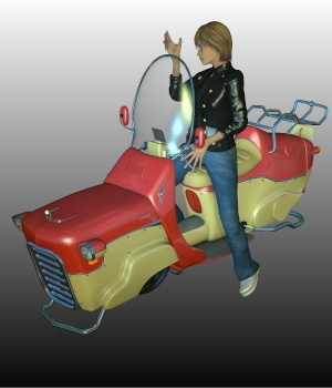 N7 SCOOTER   Poser, .OBJ, can be imported in DAZ   3D Models Ourias3D