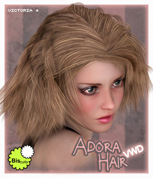 Biscuits Adora VWD Hair 3D Figure Assets Biscuits