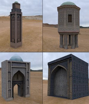 Middle East Buildings 5 (for Poser) 3D Models VanishingPoint