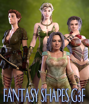 Fantasy Shapes G3F 3D Figure Assets kaleya
