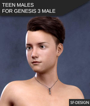 Teen Males - Shapes for Genesis 3 Male 3D Figure Assets SF-Design