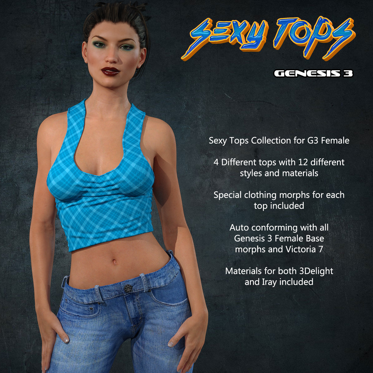 Exnem Sexy Tops for G3 Female