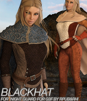 BLACKHAT - Night Guard for Genesis 3 Females 3D Figure Essentials Anagord
