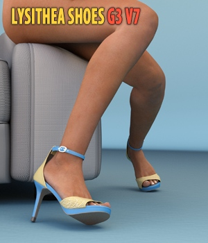 Lysithea Shoes - for Genesis 3 3D Figure Assets hameleon
