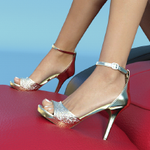 Lysithea Shoes - for Genesis 3 image 1