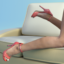 Lysithea Shoes - for Genesis 3 image 2