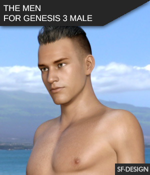 The Men - Shapes for Genesis 3 Male 3D Figure Assets SF-Design