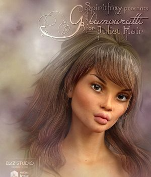 Glamouratti for Juliet Hair 3D Figure Assets Spiritfoxy