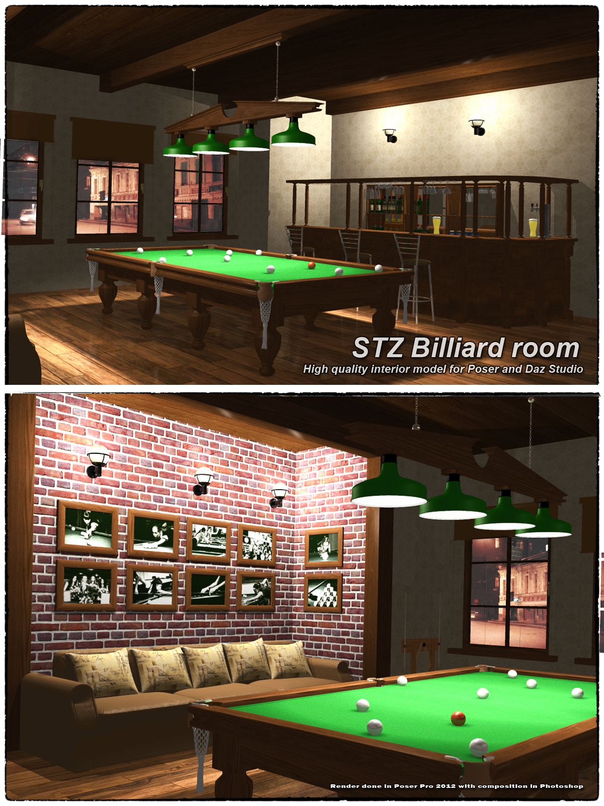 Stz Billiard Room 3d Models Santuziy78