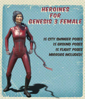 Heroines for Genesis 3 Female 3D Figure Essentials Angela3D