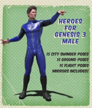 Heroes for Genesis 3 Male 3D Figure Essentials Angela3D