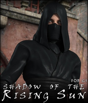 HFS Shadow of the Rising Sun for Genesis 3D Figure Essentials 3D Models DarioFish