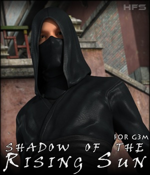 HFS Shadow of the Rising Sun for Genesis 3 Male 3D Figure Essentials 3D Models DarioFish