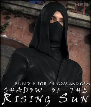 HFS Shadow of the Rising Sun Bundle 3D Figure Assets 3D Models DarioFish