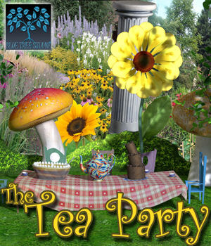 The Tea Party 3D Models BlueTreeStudio