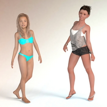 The Girls - Shapes for Genesis 3 Female image 1