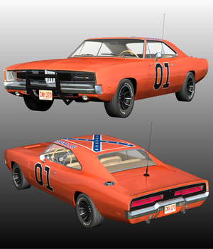DODGE CHARGER-The General 3D Models Nationale7