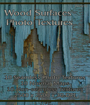 Merchant Resource: 10 Wood Surfaces Photo Textures with Normal Maps 2D Graphics Merchant Resources nelmi