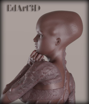 Gynoid Alien for G3F 3D Figure Essentials EdArt3D