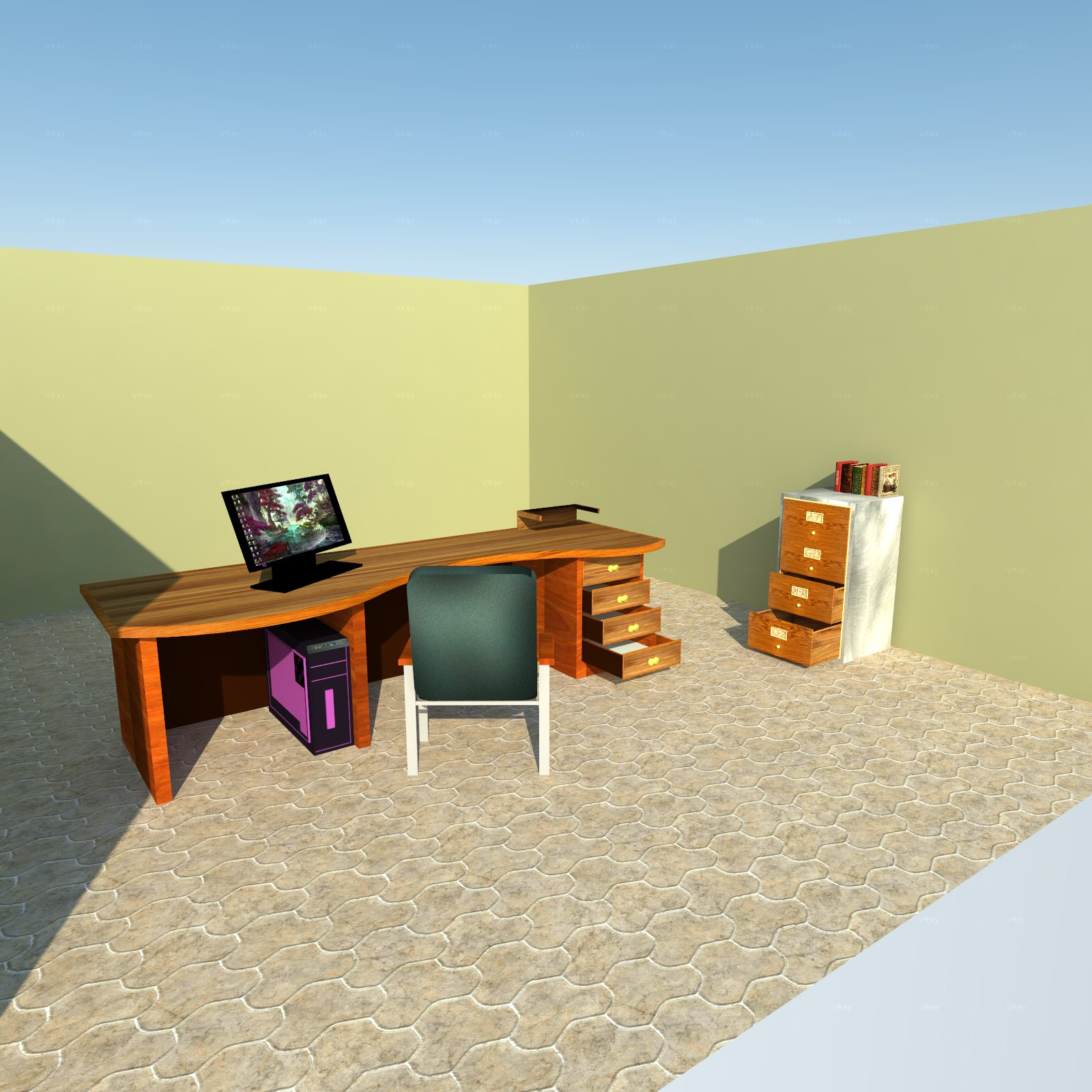 Office Furniture Pack A by holydragon78